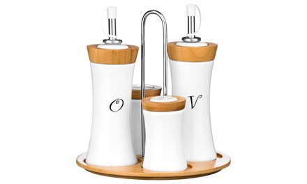Premier Housewares Four-Piece Condiment Set