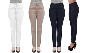 Women's High-Waist Stretch Skinny Jeans. Plus Sizes Available.