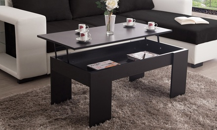 table basse plateau relevable up groupon shopping. Black Bedroom Furniture Sets. Home Design Ideas