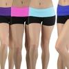 Women's Fold-Over Waist Active Shorts (5-Pack)