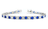 18-Karat Gold-Plated Bracelet set with Cubic Zirconia (Shipping Included)