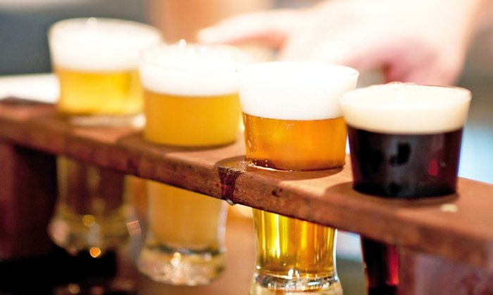 The Brass Tap - Midtown: Tasting Experience for Two or Four with Entrees and Beer Flights at The Brass Tap (Up to 47% Off)