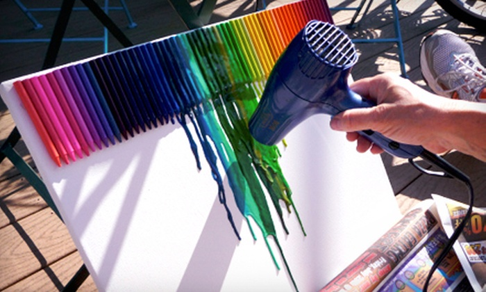 El Arte Uncorked - Urbandale: Melted-Crayon Art Class for One or Two from El Arte Uncorked (Half Off)