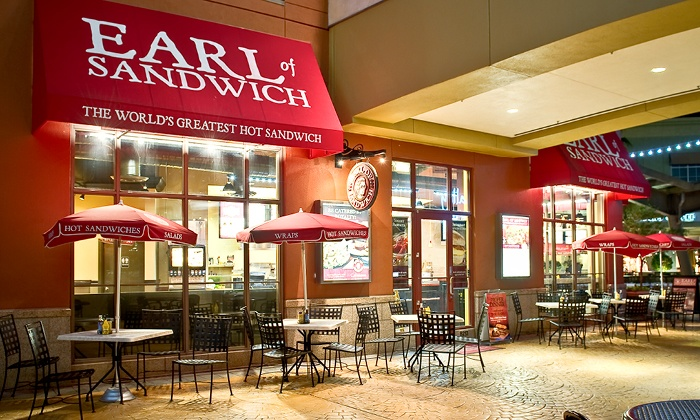 Earl of Sandwich - Multiple Locations: One or Two Groupons, Each Good for $10 Worth of Sandwiches, Wraps, Soups, and Salads at Earl of Sandwich (50% Off)