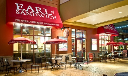 One or Two Groupons, Each Good for $10 Worth of Sandwiches, Wraps, Soups, and Salads at Earl of Sandwich (50% Off)