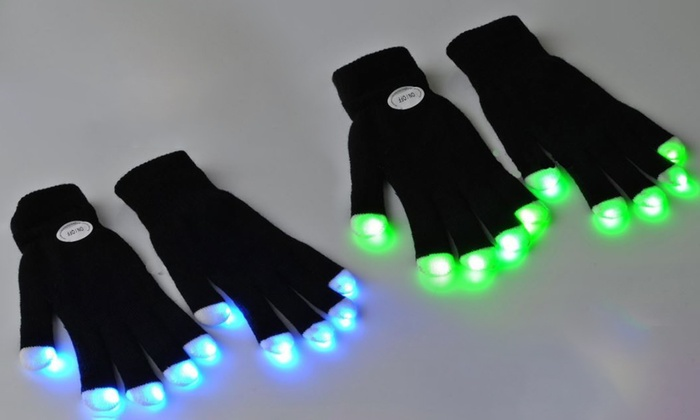 One or Two Pairs of LED Light Up Gloves for £6.98