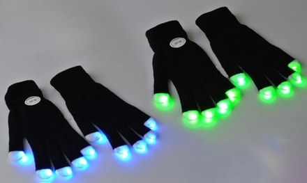 One or Two Pairs of LED Light Up Gloves