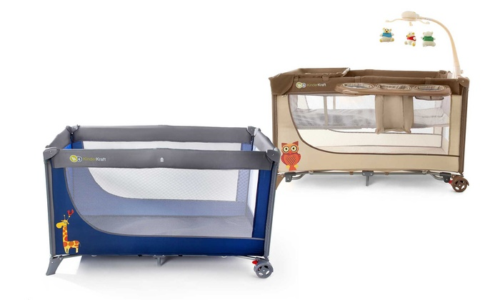 Groupon Goods Global GmbH: Kinderkraft Travel Cot With Free Delivery