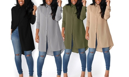 $15 for One or $25 for Two Women's Long Chiffon Shirts