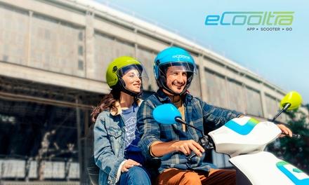 Paga 0 € en Groupon y obtén un bono de 12 € para alquiler de moto eléctrica con eCooltra Motosharing