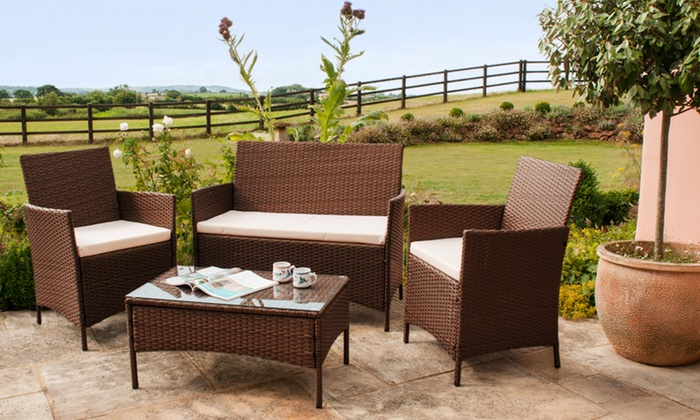 Roma garden furniture set groupon goods for Garden furniture deals