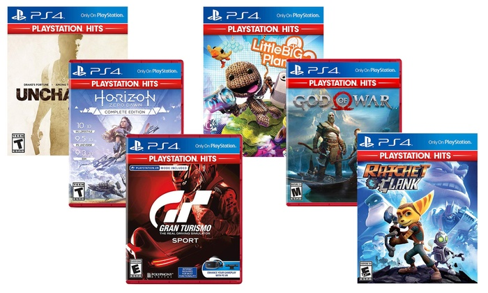 Sony Playstation Hits For Playstation 4 Multiple Options
