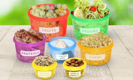 1 o 2 sets de 7 recipientes de control de porciones sin BPA