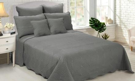 Couvre lit matelassé pour lit 1 ou 2 places, 4 pièces ou 7 pièces