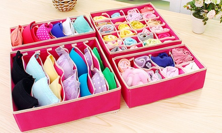 Underwear Organiser Storage Boxes: Four ($22) or Eight ($35)
