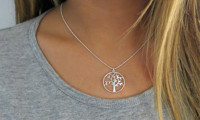 """Groupon Goods: Sterling Silver """"Tree of Life"""" Necklace (Shipping Included)"""