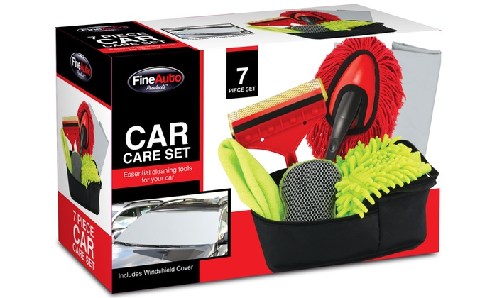 Auto car wash care kit 7 pc groupon goods - Interior car cleaning los angeles ...