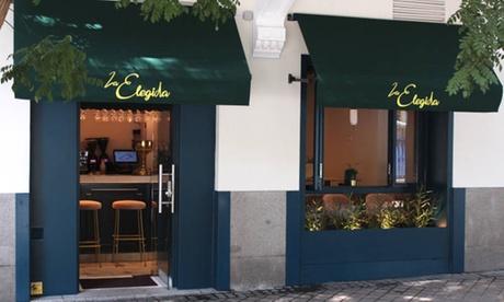 Menú para 2 o 4 personas con entrante, principal, postre y bebida desde 29,95 € en La Elegida