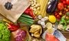 Kochbox mit Zutaten und Rezepten
