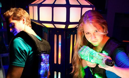 Two Games of Laser Tag for Two or Four or Birthday Party Package for Eight at Lazer Blaze (Up to 46% Off)