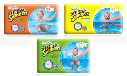 36, 72 or 144 Huggies Little Swimmers Nappies with Nemo Inflatable Toy