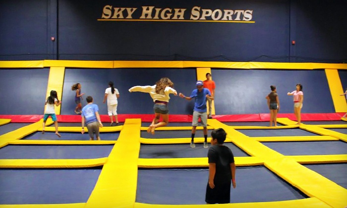Sky High Sports - Woodland Hills: Two Drop-In AIR-obics Classes or Two Hours of Jump Time at Sky High Sports (Up to 50% Off)
