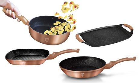 Sartén, wok o grill de la colección Rose Gold de la marca Berlinger Haus