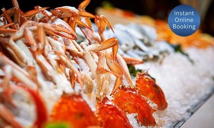 AYCE Seafood Buffet with Bottle Wine $109, 4 $215 or 6 People $319 at Windows Restaurant Up to $660 Value