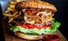 Riesen-Burger-Menü mit Getränk