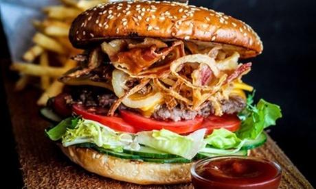 Groupon DE XXL-Burger-Menü inkl. Beilage, Dessert und Softdrink für 1 bis 4 Pers. bei BAM! Burgers & More (bis zu 43% sparen*)