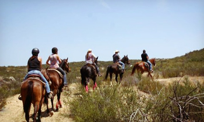 Vin Hesten Trail Adventures - Roripaugh Ranch: Horseback-Riding Lesson, Trail Ride, and Slideshow CD for Two or Four from Vin Hesten Trail Adventures (Up to 51% Off)