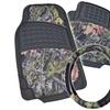 BDK Camo Car Interior Accessories Steering Wheel Cover & Rubber Floor Mats
