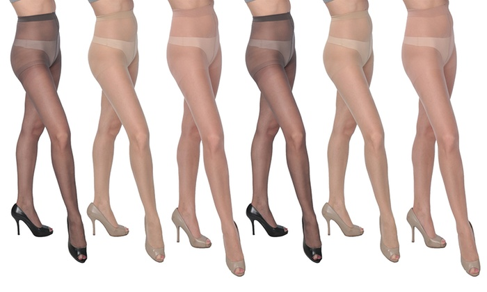 Adriana Women's Smooth Satin-Finish Pantyhose (6-Pack)