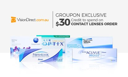 $15 for $30 to Spend on Contact Lenses at VisionDirect
