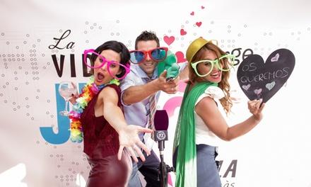 Servicio de fotomatón para boda y evento por 299 € con Love Fotomatón