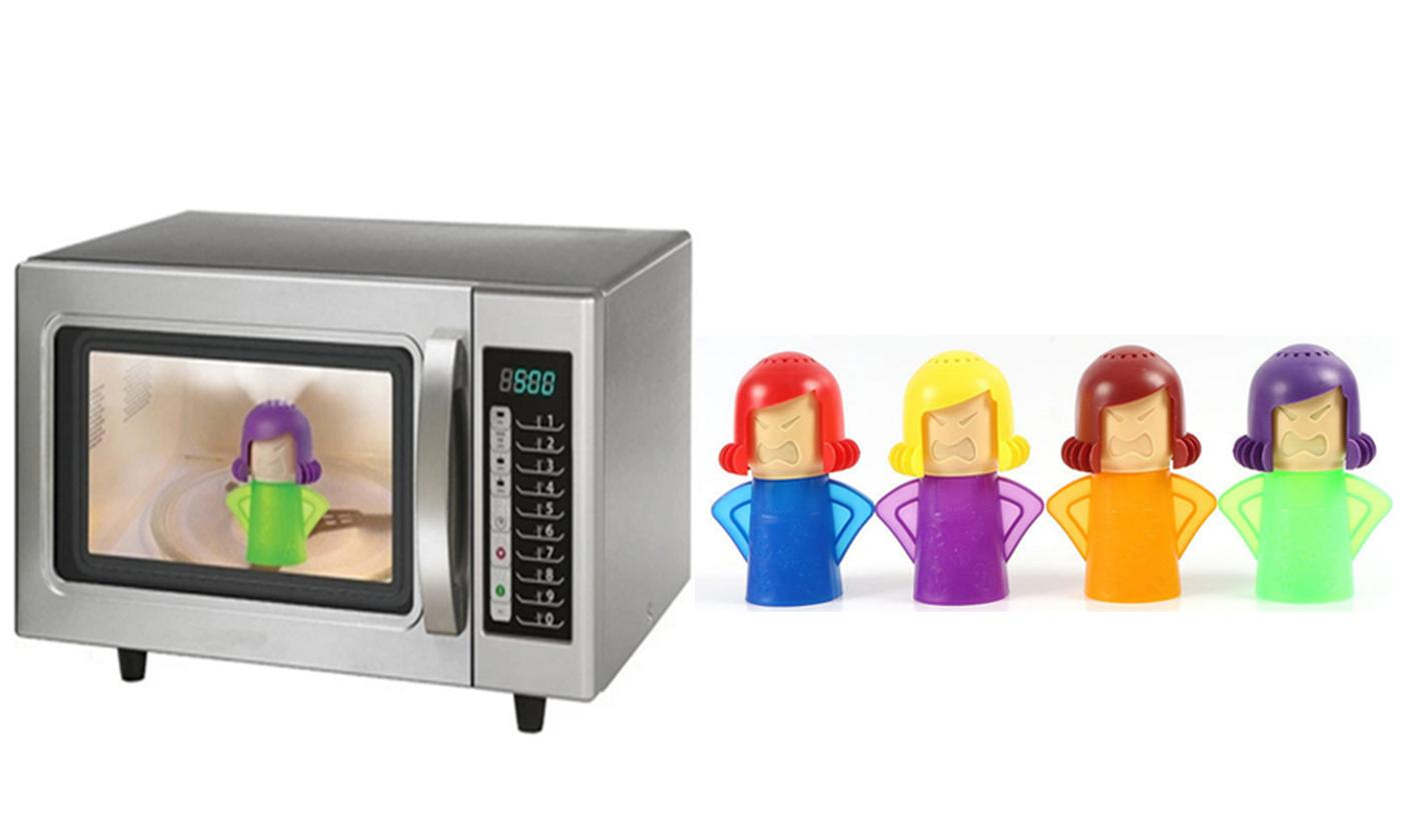 One, Two or Four Angry Mama Microwave Oven Cleaners