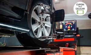 PNEU+: Alinhamento, balanceamento, calibragem, rodízio de pneus e mais(opção com troca de óleo e mais) na PNEU+ – 4 endereços