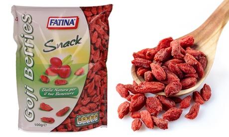2 confezioni di Goji energizzante naturale Fatina Snack da 100 g