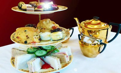 image for Afternoon Tea with Edible 23 Carat Gold for Two or Four at Healey Dell Heritage Centre & Tea Rooms (52% Off)