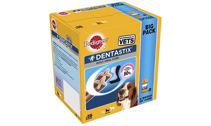 56 or 112 Pedigree DentaStix Dog Dental Chews for £10
