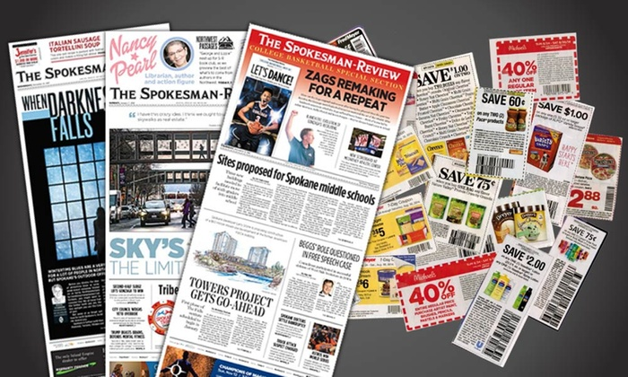 """Spokesman Review: $19.99 for a 52-Week Wednesday and Sunday Subscription to """"The Spokesman-Review"""" ($312 Value)"""