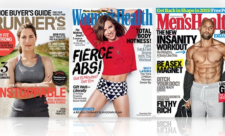Women's Health, Runner's World and more $7–$21.