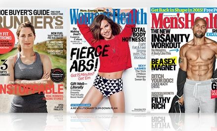 Women's Health, Runner's World and more $7–$21.