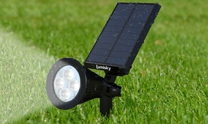 Projecteur solaire 4 LED blanches