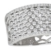 Cubic Zirconia Bubble Ring in Rhodium Plated Sterling Silver