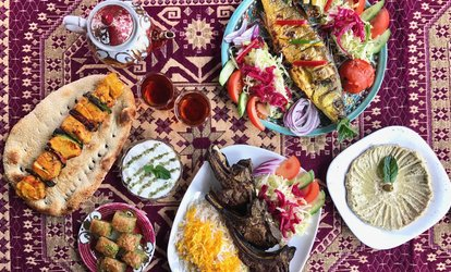 Persian Starter, Main Course, Baklava and Tea for Two or Four People at Saba Restaurant (Up to 42% Off)