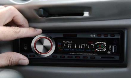 Radio con USB, reproductor MP3 y ranura SD para coche