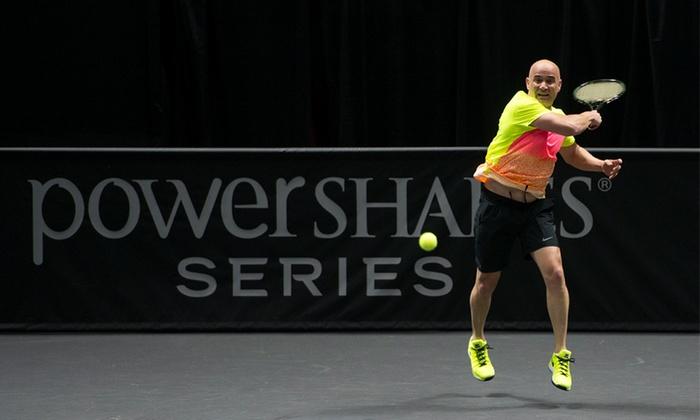 PowerShares Series Tennis - Volvo Car Stadium: PowerShares Series Tennis Event Featuring Andre Agassi on Saturday, April 9, at 7 p.m.