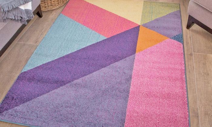 Modern Colourful Rug Groupon