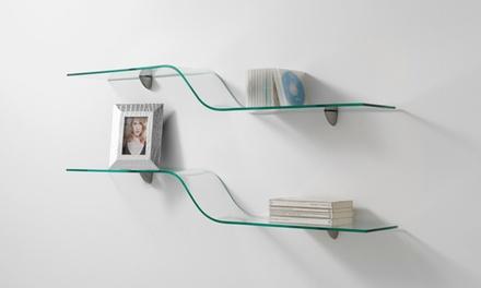 Mensola in vetro Tomasucci disponibile in 4 modelli